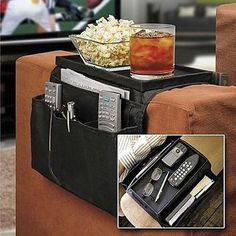 Sofa Couch Arm Rest Organizer Storage Remote Control Holder table bag New