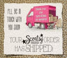Scentsy Order Shipped! www.facebook.com/thescentsationallife
