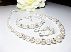 brides peral jewelry sets - Google Search