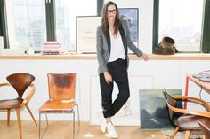 """Jenna Lyons - """"There's sexiness in not trying to be sexy. Sexy for J. Crew is something more natural, not when everything is firing on all cylinders. There has to be something that's a bit undone. You can't have perfect hair, and clothes, and makeup—you need an element of imperfection to make you feel like there's a person behind it all."""""""