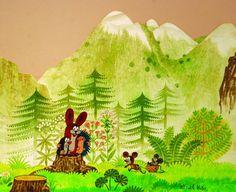 Jak Zdeněk Miler zakopl o krtinu a co z toho vzniklo - Aktuálně. La Petite Taupe, The Mole, Fairy Land, Vintage Children, Illustration Art, Illustrations, Print Patterns, Scene, Watercolor