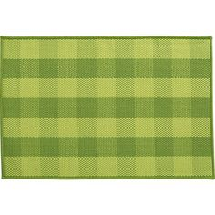 Jute Green Check Rug in Area Rugs | Crate and Barrel