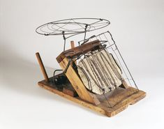 """TOASTER, C. 1942  Wire, wood, metal, plaster, nails, and screws 12"""" x 9"""" x 8 1/4"""" Calder Foundation, New York"""