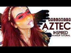 Halloween - AZTEC Inspired Makeup Look - YouTube