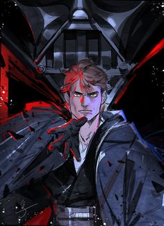 He was the best star pilot in the galaxy, and a cunning warrior. Anakin Vader, Darth Vader, Anakin Skywalker, Luke Skywalker Dark Side, Star Wars Pictures, Star Wars Images, Star Wars Fan Art, Star Trek, Star Wars Design