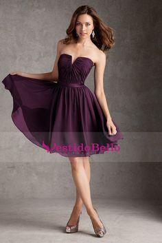 2015 Mellado escote vestidos de dama de longitud de la rodilla con volantes blusa de gasa