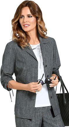 Lady Blusenblazer mit lässigen Raffungen Jetzt bestellen unter: https://mode.ladendirekt.de/damen/bekleidung/blazer/blusenblazer/?uid=307ef67b-5d4a-5a05-8d5b-018cbdc90ab3&utm_source=pinterest&utm_medium=pin&utm_campaign=boards #blusen #blazer #blusenblazer #langarm #bekleidung Bild Quelle: baur.de