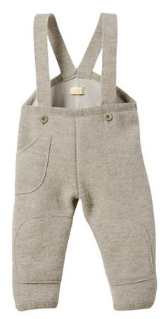 Disana Boiled Wool Trousers - Grey