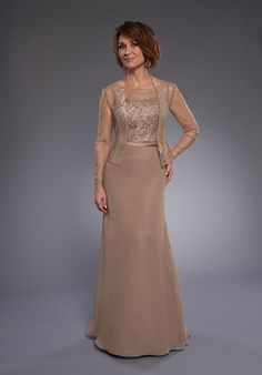 V-back, satin belt, lace bodice, and chiffon skirt. Available in 17 colors, check our website for all colors.