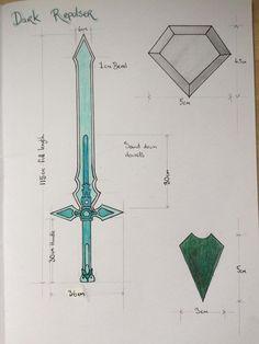 Zombie Weapons, Ninja Weapons, Anime Weapons, Fantasy Weapons, Kirito Sword, Sword Art Online Kirito, Weapon Concept Art, Armor Concept, Sao Ggo