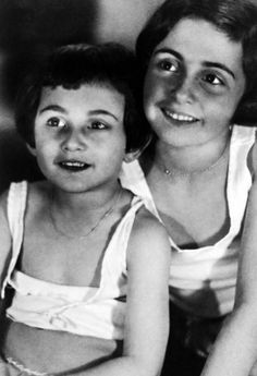 Anne Frank and her sister Margot