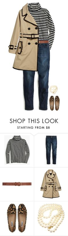"""Turtlenecks and Trench Coats"" by sc-prep-girl ❤ liked on Polyvore featuring J.Crew, Dorothy Perkins, Kate Spade, Dune and Mikimoto"
