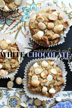 Healthy/Gluten Free white chocolate macadamia nut muffins!  & low carb!