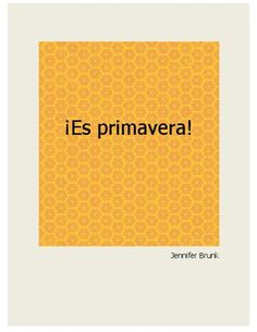 ¡Es primavera! - a free ebook to read with kids learning Spanish