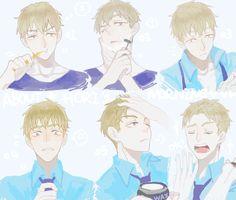 Him Expression so melting...>,<