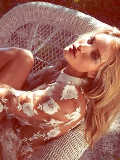 Rosie Huntington-Whiteley by Camilla Åkrans for Vogue Germany June 2014