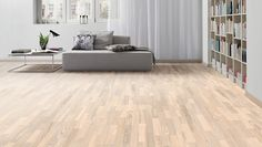 My hardwood floors are HARO PARKET 4000 3-stavs gulv Ask arctic white Country