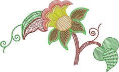 Jacobean Embroidery Patterns | jacobean-flower-10s1.jpg