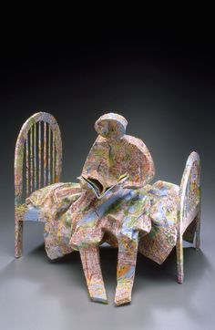 You Are What You Read, sculpture by Kathy Ross.
