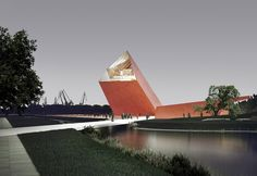 Museum of the Second World War, Gdansk, Poland; 20 Museums That Are Fine Architectural Examples Cultural Architecture, Auditorium Architecture, Cabinet D Architecture, Sacred Architecture, Sketch Architecture, Museum Architecture, Amazing Architecture, Salvador Dali Museum, Museum Plan