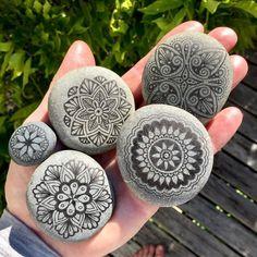 Precise Hand Drawn Stone Mandala Drawings. By Mike Pethig.