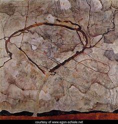 Autumn Tree In Movement - Egon Schiele - www.egon-schiele.net