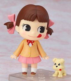 Peko-chan is dressed in her uniform ready for the new school term to begin! An all new variation of the popular Nendoroid Peko-chan that was released in August! This version has Peko-chan dressed up ready for the new school year, with a new ra. Cute Characters, Disney Characters, Fictional Characters, Beat Em Up, Puppy Names, New School Year, Typography Logo, Kpop, Vinyl Art