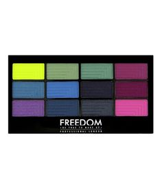 Pro 12 Eyeshadow Palette from Freedom Makeup in Chasing Rainbows. $7.18.