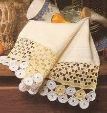Pano de Prato em Crochê -  /  Dish cloth Crochet - 1 =