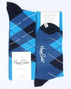 Various-Blues Diamond Argyle Mens Dress Sock - Happy Socks sock-it-to-me