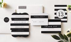 geschmackvoll und stylisch - schwarz-weiße Streifen