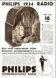 Afbeeldingsresultaat voor Reclame van Philips Radio op een vloeiblad