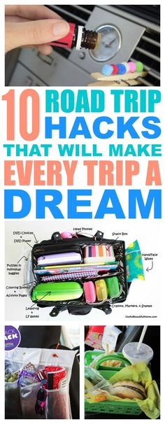 10 Road Trip Hacks That Will Make You LOVE Being In The Car - We need to try a few of these with our summer trips and travels.