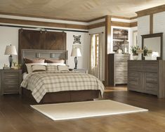 Ashley Juararo 4PC Queen Panel Headboard Bedroom Set In Dark Brown -- Be sure to check out this awesome product. (This is an affiliate link) #AshleyBedroomFurniture