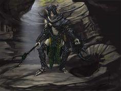 Falmer Armor concept art from The Elder Scrolls V: Skyrim by Adam Adamowicz