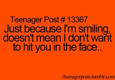 Teenager Posts... I really hate someone. and i have to do this all the time to her ... -_-