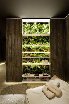38 Spectacular Indoor Garden Design Ideas To Try Right Now - While it may not be difficult to have a vegetable garden in your own backyard, it's different when it's going to be inside of your house. An indoor ga. Jardin Vertical Diy, Vertical Garden Design, Vertical Gardens, Indoor Vegetable Gardening, Organic Gardening, Urban Gardening, Indoor Hydroponic Gardening, Vertical Hydroponics, Indoor Farming