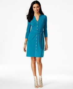 Thalia Sodi Belted Shirtdress, Only at Macy's - Dresses - Women - Macy's