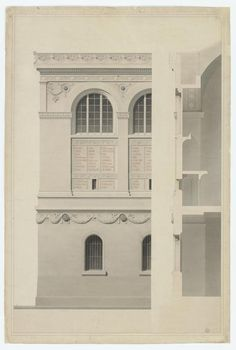 """New York – Henri Labrouste: """"Structure Brought to Light"""" at MoMA, Through June 2013 Architecture Blueprints, Paper Architecture, Architecture Quotes, Architecture Drawings, Classical Architecture, Architecture Details, Landscape Architecture, Philip Johnson, Moma"""