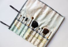 DIY Makeup Brush Bag - FREE Sewing Pattern and Tutorial