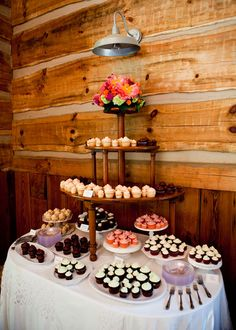 cupcake buffet, would be cute for a Bridal shower.