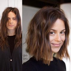 50 brilliant wavy hair ideas for contemporary cuts - new women's hairstyles - Long Hairstyles 2020 Cute Hairstyles For Short Hair, Hairstyles Haircuts, Everyday Hairstyles, Straight Hairstyles, Curly Hair Styles, Natural Hair Styles, Short Hair Dos, Corte Y Color, Photomontage