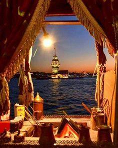 Maiden's Tower, Istanbul # turkkahvesi # sea Kul – Márti Meryem Yılmaz – Join the world of pin Soho House Istanbul, Istanbul City, Wonderful Places, Beautiful Places, Places To Travel, Places To Go, Turkey Travel, Travel Images, Hotels