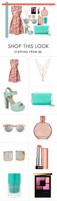 """Untitled #201"" by romi-kella on Polyvore featuring Forever 21, Call it SPRING, Kate Spade, Le Specs, Estée Lauder, Revlon, Nails Inc., Yves Saint Laurent and MAC Cosmetics"