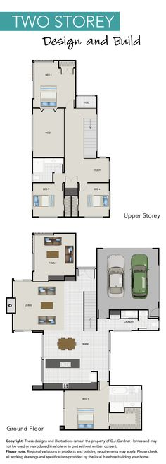 The floor plan for this previous G.J. Showhome in Palmerston North, New Zealand.