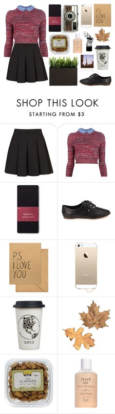 """untitled"" by jet-black-heart555 ❤ liked on Polyvore featuring Topshop, Carven, Merona, Forever 21, Sugar Paper, Agent 18, Natural Life, Fresh, Polaroid and Aesop"