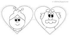 Μία ακόμα κάρτα για τον Παππού και τη Γιαγιά , για τη μέρα της γιορτής τους!!!     Κάρτα Καρδιά     Εκτυπώνουμε σε άσπρο κάνσον ( Α4 160...
