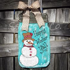 southern christmas mason jar door hanger winter wreath painted wooden christmas wreath wooden door hanger you pick the words mason jar door