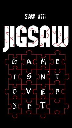 Jigsaw movie fan made poster by on DeviantArt Scary Movie Quotes, Scary Movie Characters, Scary Movies, Horror Movies, Jigsaw Movie, Jigsaw Saw, Saw Quotes, Scary Wallpaper, Movie Crafts