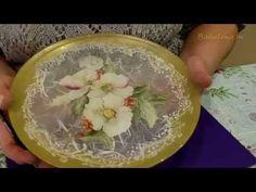 Исправляем дефекты каймы в обратном декупаже с рисовой бумагой